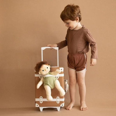 Olli Ella | Dinkum Doll | Pumpkin with See-Ya Suitcase