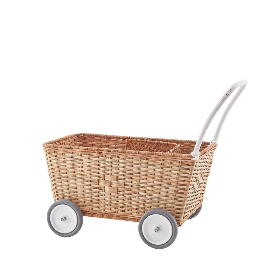 Olli Ella | Strolley | Natural | Toy Stroller & Shopping Trolley