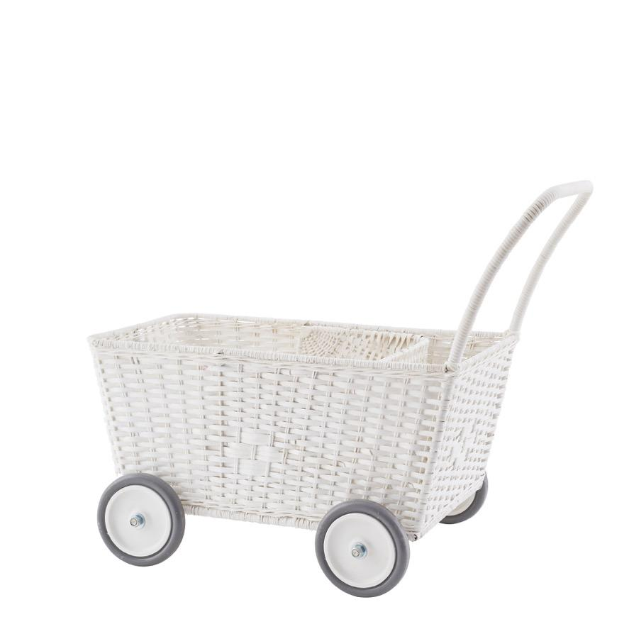 Olli Ella | Strolley | White | Toy Stroller & Shopping Trolley