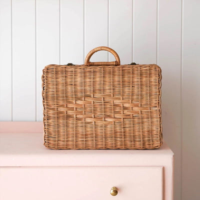 Olli Ella | Toaty Trunk | Natural Rattan Suitcase for Children