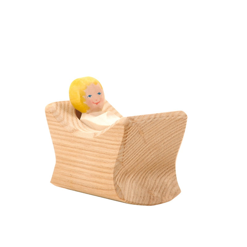 Ostheimer | Wooden Toy | Child in Crib 2 pieces 1006