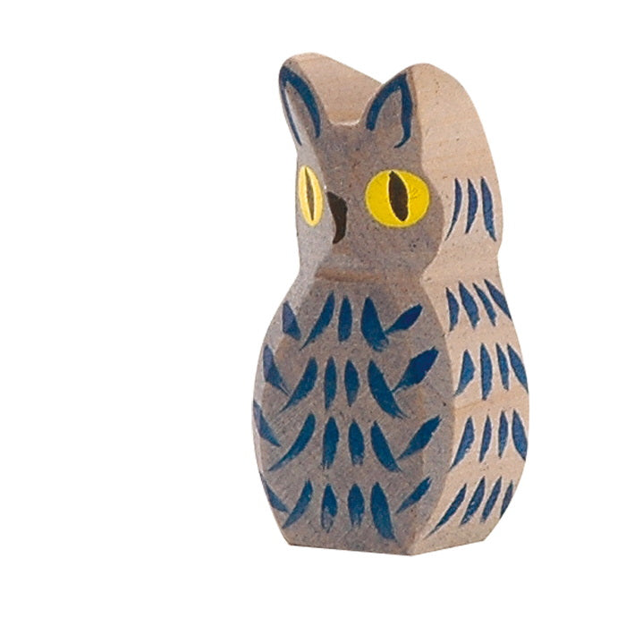 Ostheimer | Wooden Toy | Birds | Owl Blue