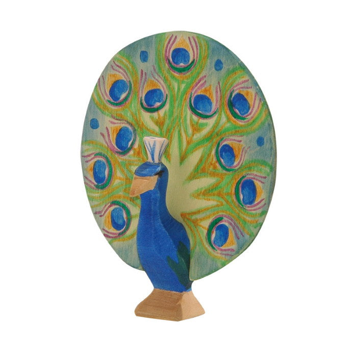 Ostheimer | Wooden Toy | Birds | Peacock Open
