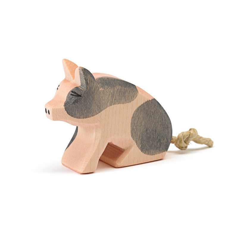 Ostheimer | Wooden Toy | Spotted Piglet Sitting