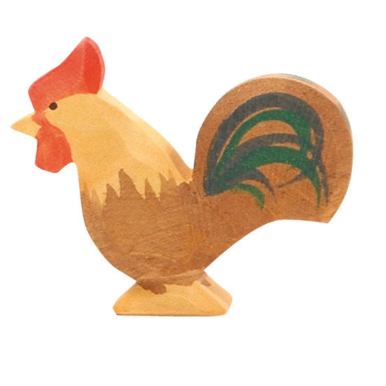 Ostheimer | Wooden Toy | Rooster Brown