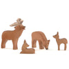 Ostheimer | Wooden Toy | Red Deer Family including Buck, Stag, Doe, Fawn