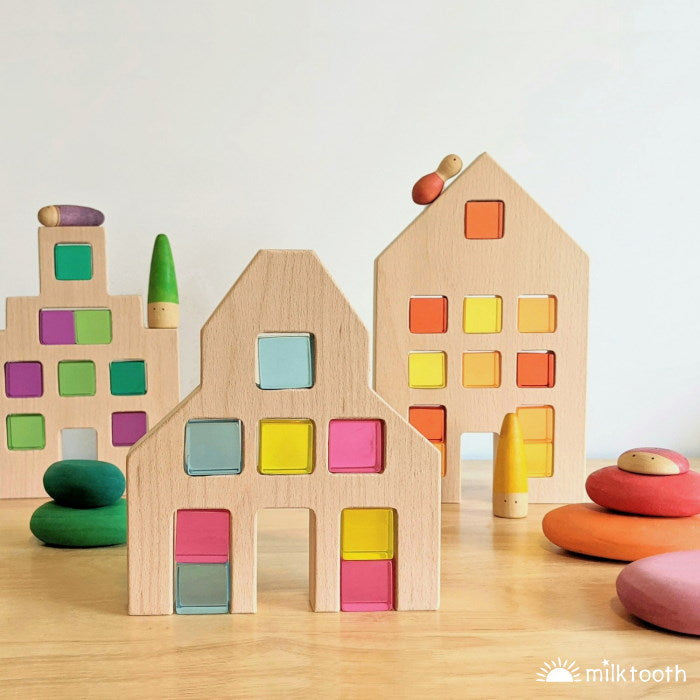 Papoose | Dutch Wood Houses | 3 Pieces
