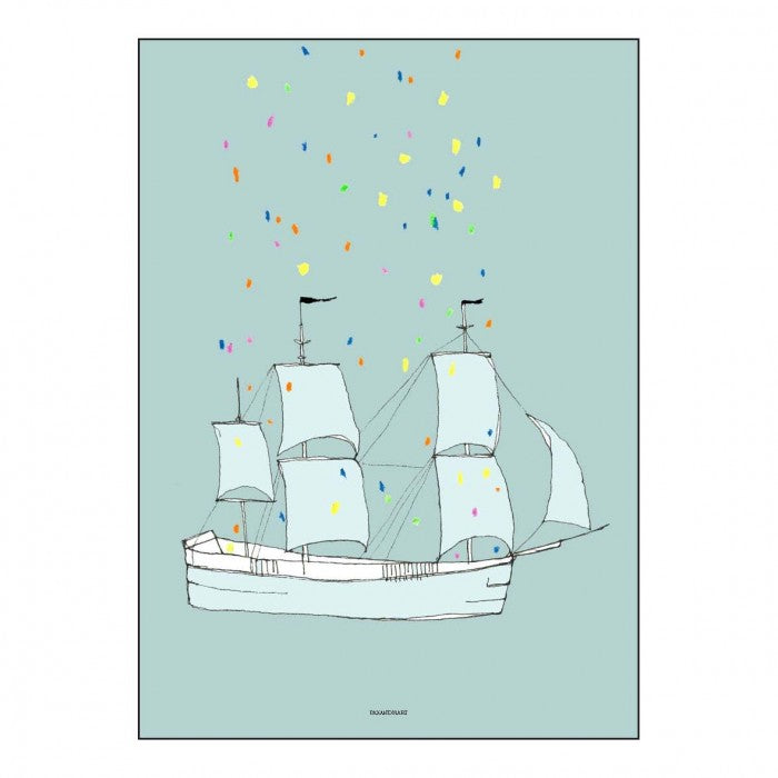 Pax & Hart | Art Print Poster | This Ship Has Sailed