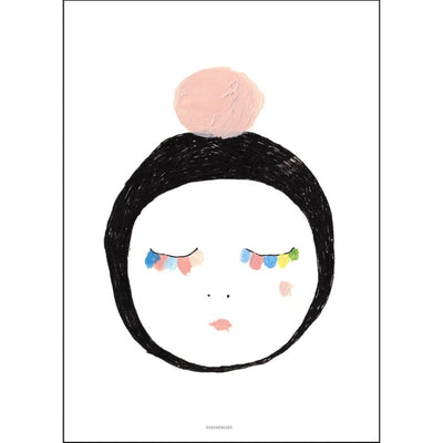 Pax & Hart | Art Print Poster | Petal | Pink and Pastel Eyelashes Girl