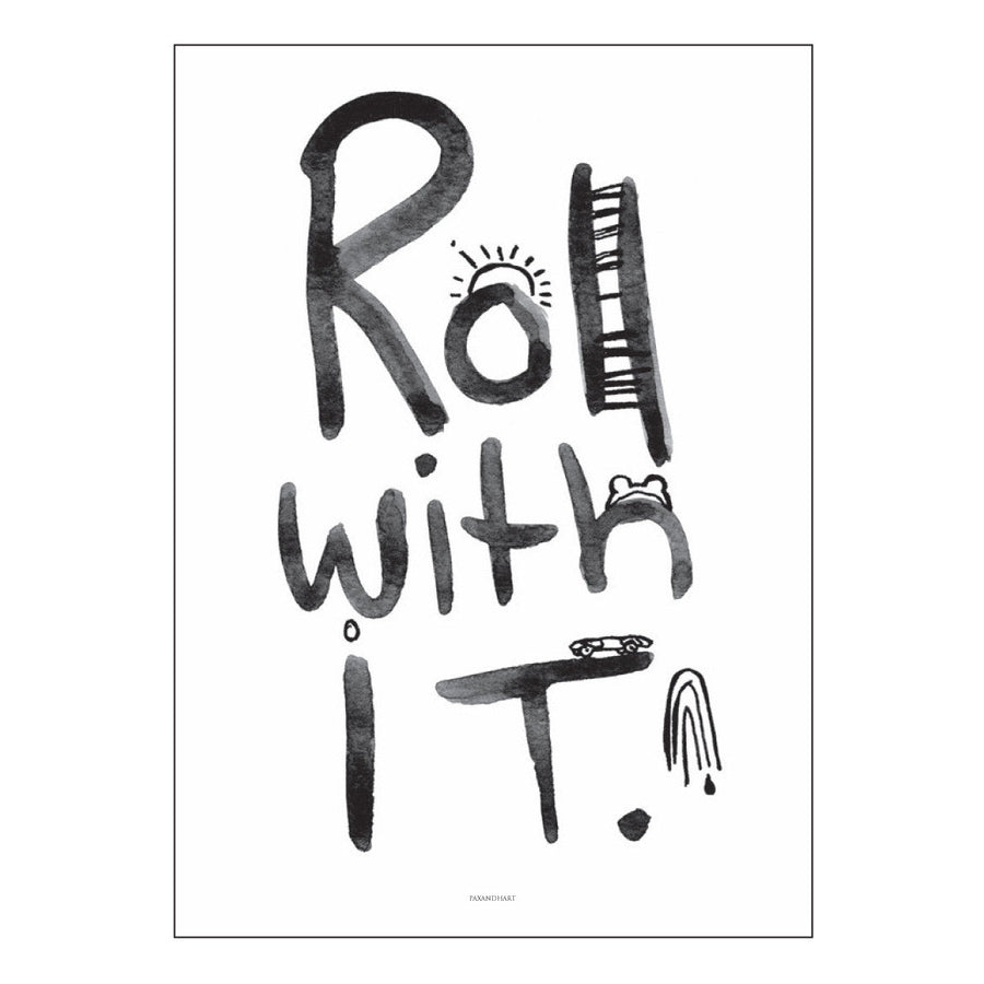 Roll With It Art Print Poster by Pax & Hart | Milk Tooth