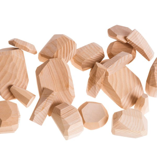 Pislik | Wooden Toy | Stackable Balancing Rocks with Timber Figurine