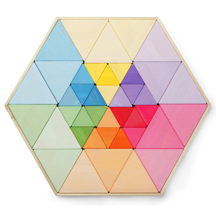 Playful Wood | Extra Large Wooden Triangle Puzzle