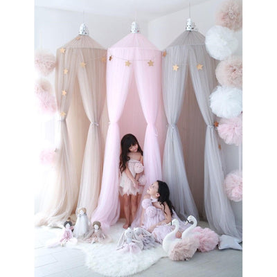 Spinkie Baby | Princess Canopy | Nude Pink Grey | Extra Long Tulle