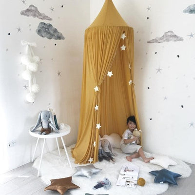 Spinkie Baby | Sheer Canopy | Mustard boy's room