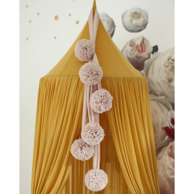 Spinkie Baby | Sheer Canopy | Mustard Golden Yellow close-up