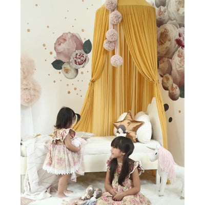 Spinkie Baby | Sheer Canopy | Mustard girl's room