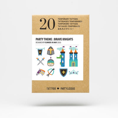 Tattyoo | Temporary Art Tattoo | Party Theme | Brave Knights | Milk Tooth