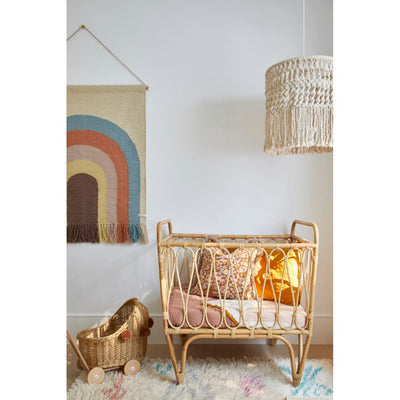 OYOY Follow the Rainbow Wall Rug from Milk Tooth in Three Birds Renovations House 10 Nursery