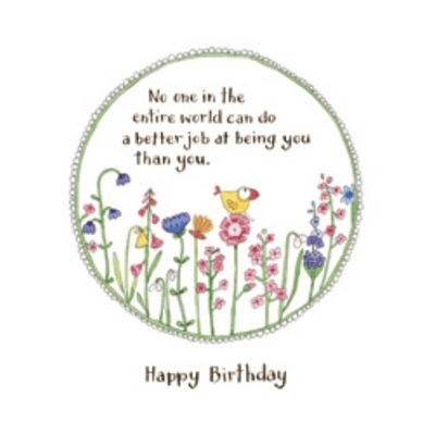 Twigseeds greeting card - No one in the entire world