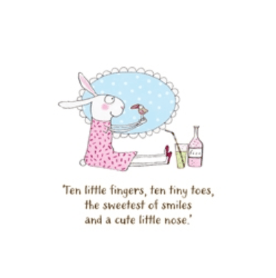 Twigseeds greeting card - Ten little fingers