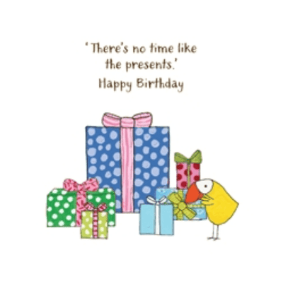 Twigseeds greeting card - There's no time like the presents