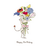 Twigseeds greeting card - Bunch of flowers