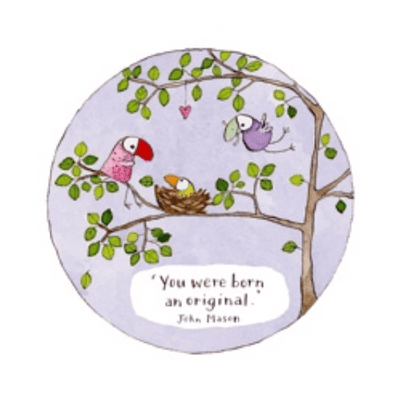 Twigseeds greeting card - Born an original