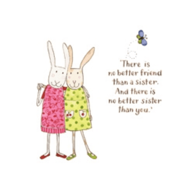 Twigseeds greeting card - No better friend than a sister