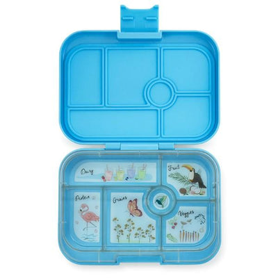 Yumbox | Original Lunch Box | Bento Box | Nevis Blue open with tray