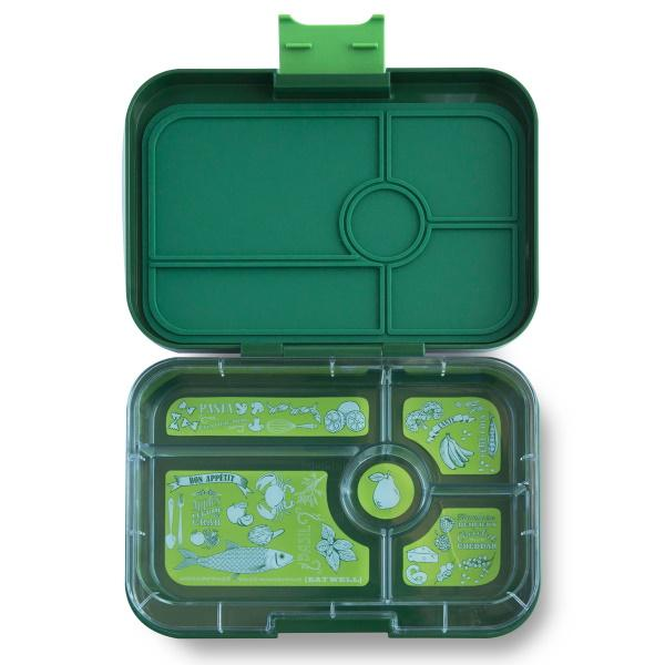 Yumbox | Tapas Lunch Box | 5 Compartment | Brooklyn Green