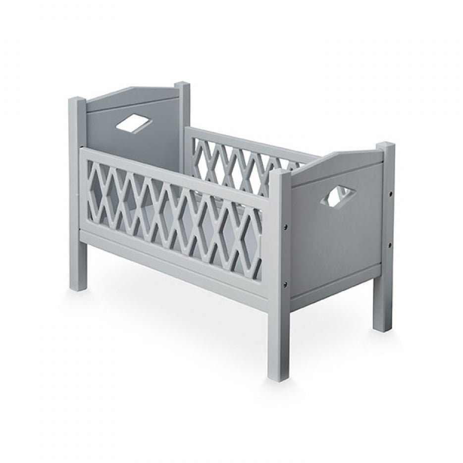 Cam Cam Harlequin Doll's Bed in Grey