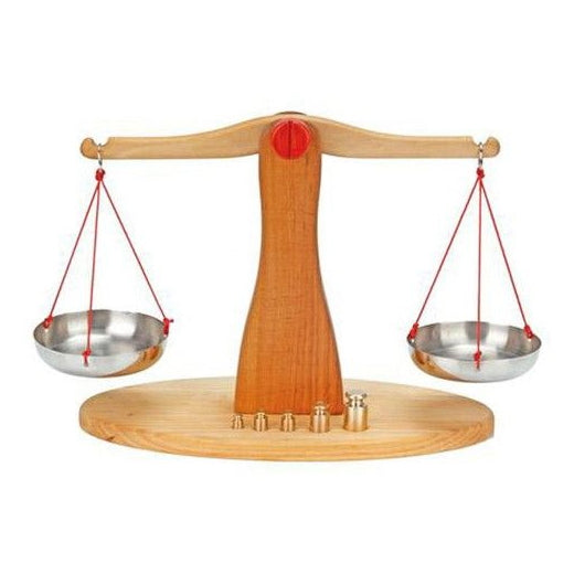 Gluckskafer | Wooden Scales with 5 Brass Weights