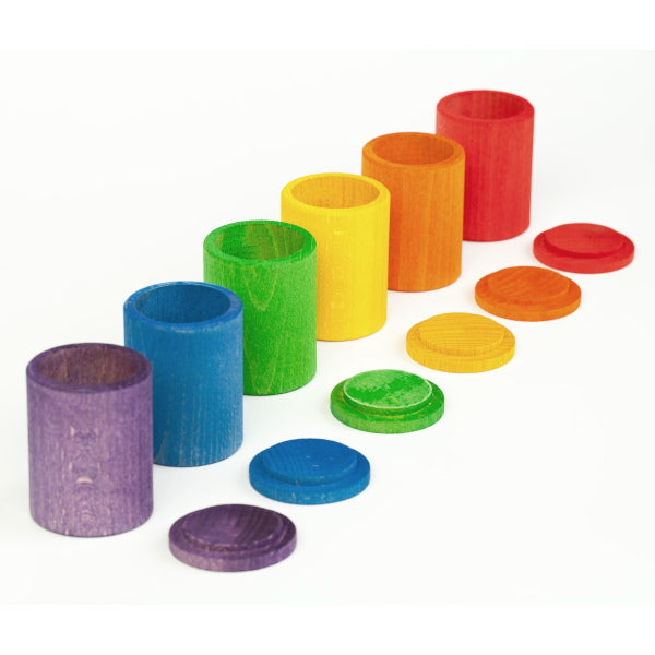 Grapat | 6 Coloured Cups with Lids