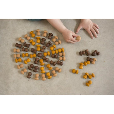 Grapat | Mandala | Wooden Mushrooms 36 Pieces | Toy Set