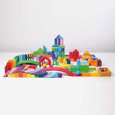 Huge selection of Grimm's Rainbows Blocks Rainbow Balls Stepped Building Blocks