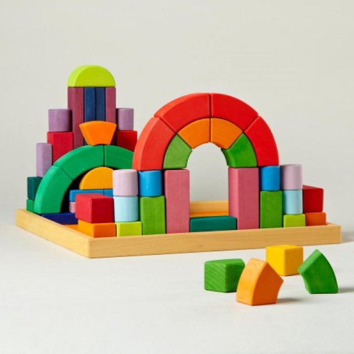Grimm's | Romanesque Building Set | Wooden Building Blocks