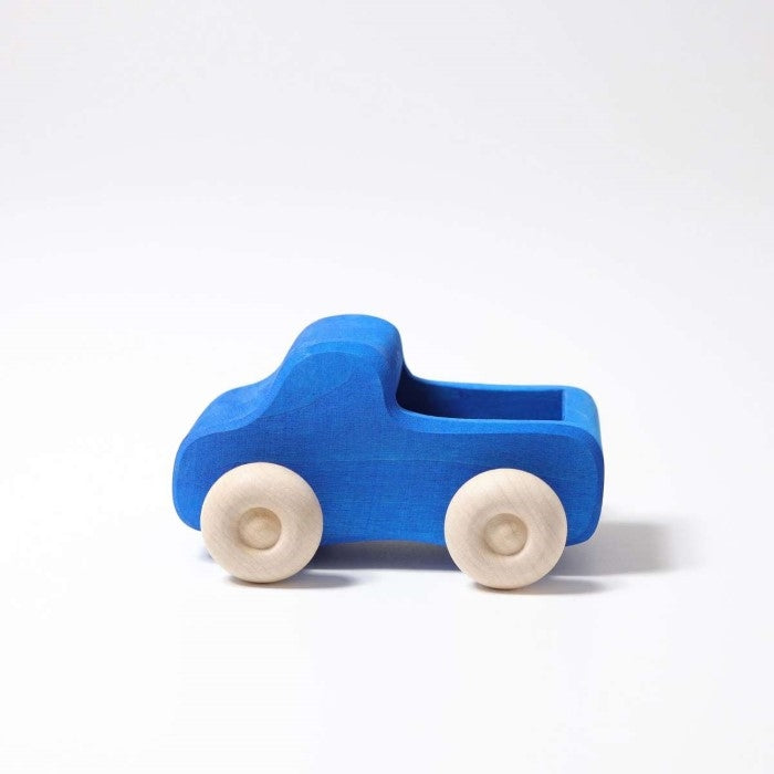 Grimm's | Small Truck | Blue | Wooden Toy