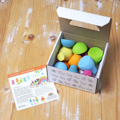 Grimm's | Pastel Sorting Mushrooms in box