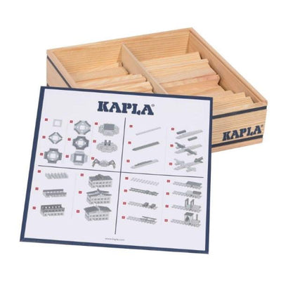 KAPLA | Wooden Building Planks | 100 Pieces | Wooden Gift Case & Instructions