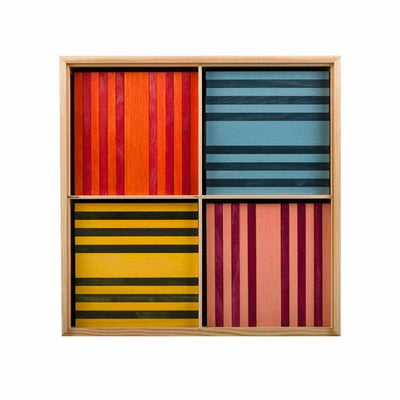 KAPLA | Wooden Building Planks | Octocolour 100 Pieces coloured boards
