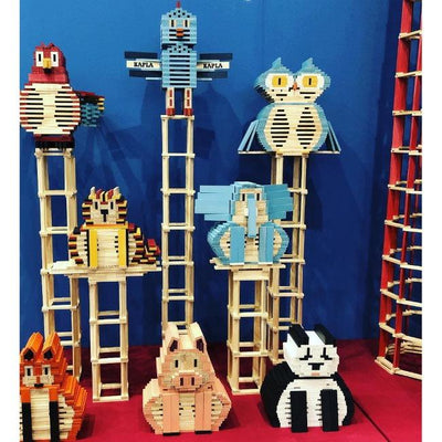 KAPLA building blocks planks animal sculptures - bird owl cat pig panda elephant