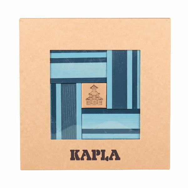 KAPLA | Wooden Building Planks | Book & 40 Blue Pieces