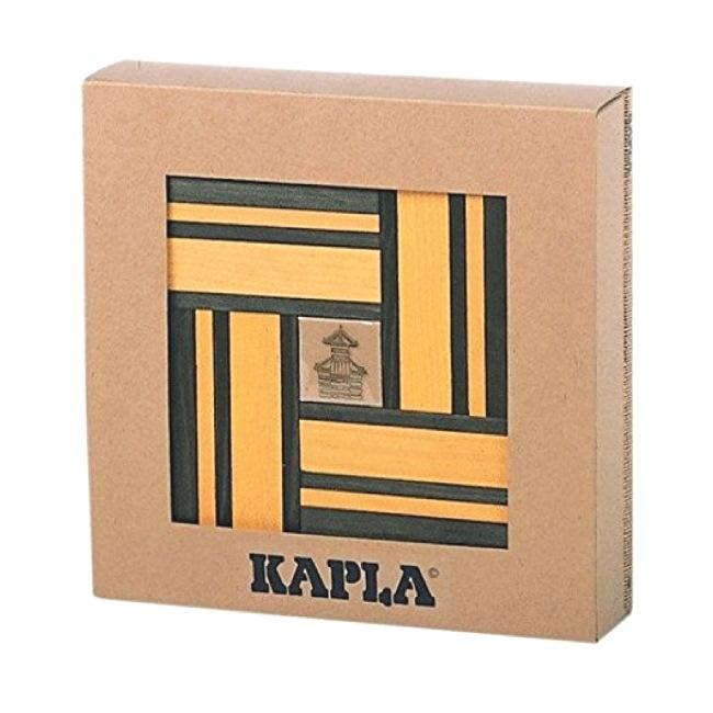 KAPLA | Wooden Building Planks | Art Book & 40 Yellow Green Pieces