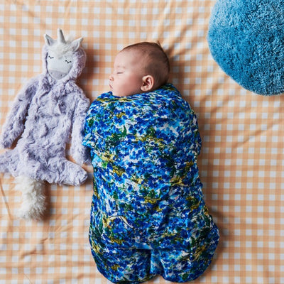 Kip and Co | Bamboo Baby Swaddle | Bunch of Blue
