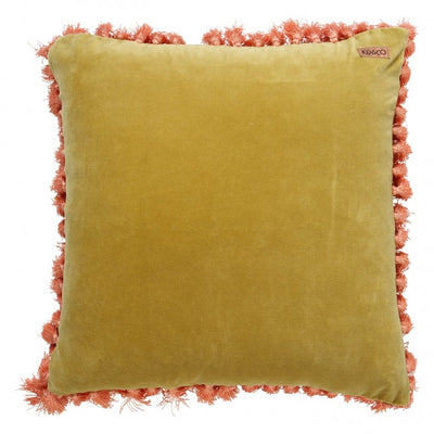 Kip and Co | Velvet Tassel Cushion Cover | Burnished Gold