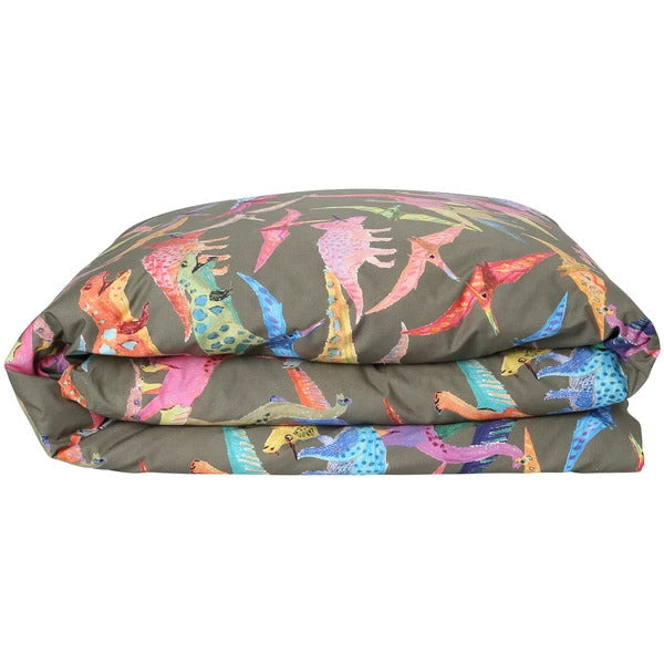 Kip and Co | Dino Earth | Quilt Cover | Single