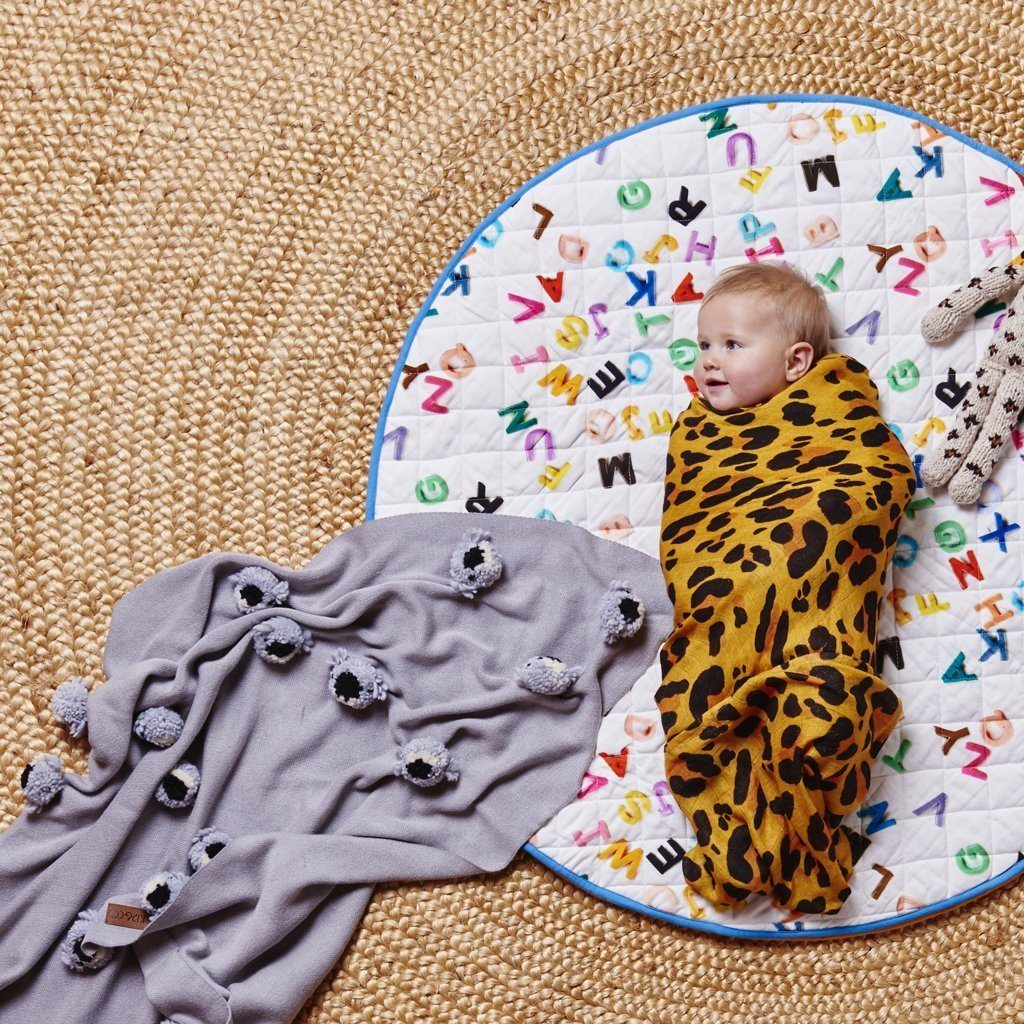 Kip & Co | Quilted Round Baby Play Mat | Magnets | Milk Tooth : quilted play mat baby - Adamdwight.com