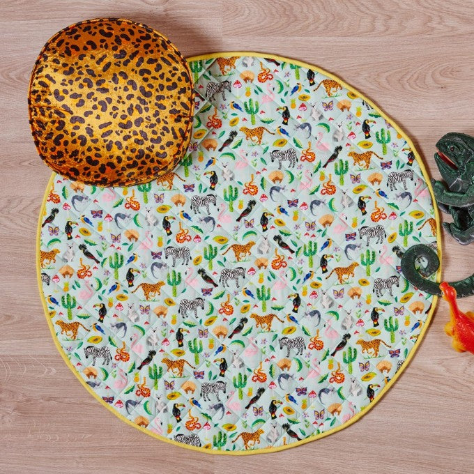 Kip and Co | Quilted Round Baby Play Mat | In the Jungle