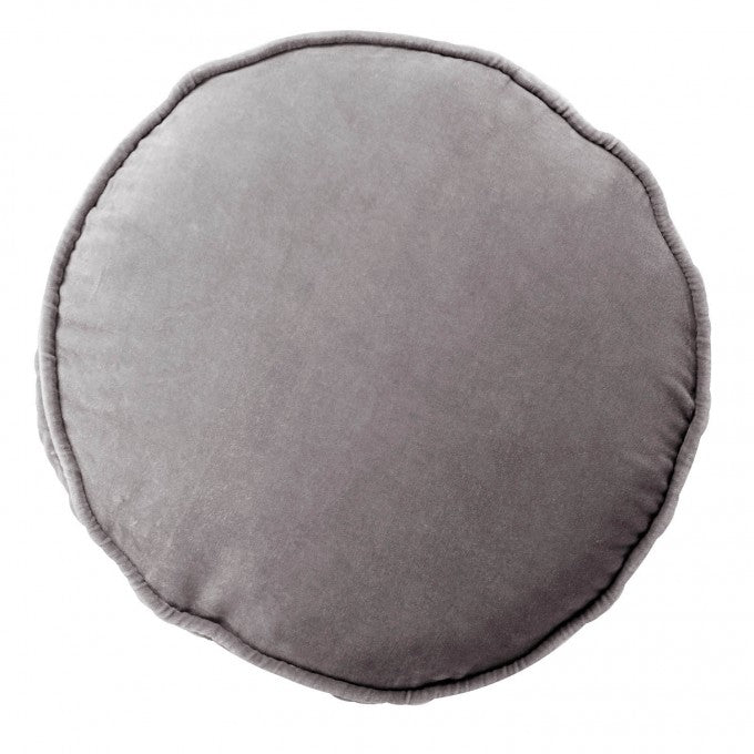 Kip and Co | Velvet Filled Pea Cushion | Storm Front Grey