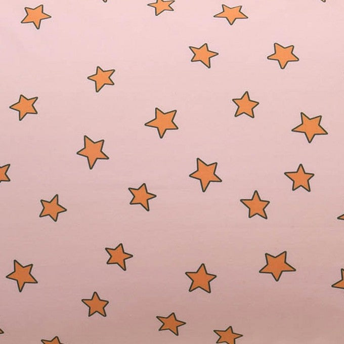 Kip and Co | Fitted Sheet | You're a Star Peach